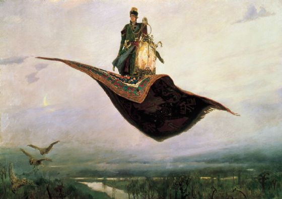 Vasnetsov, Viktor Mikhailovich: The Magic Carpet, 1880. Fine Art Print/Poster. Sizes: A4/A3/A2/A1 (00583)